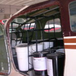 Cessna 206 rear nets with flam cargo